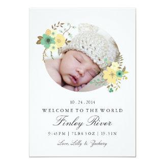 Floral Birth Announcement