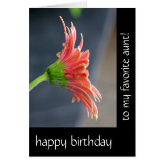 Floral Birthday for Aunt, Pink Gerbera Daisy Card