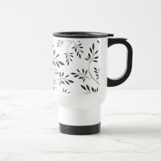 Floral Black and White Pattern Mug