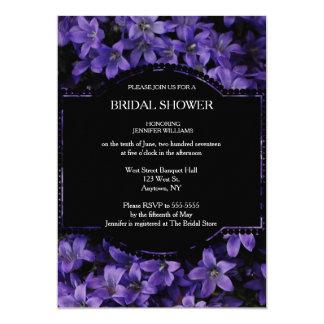 Floral Black Bridal Shower Invitations