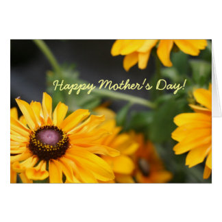 Floral Black Eyed Susans Photo Mother's Day Blank Card