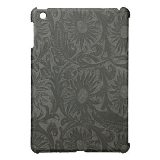 Floral Black Tool Leather Pattern Speck iPad Case