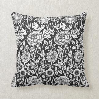 Floral Black & White Pillow