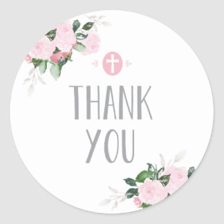 Floral Blooms Religious Thanks Sticker