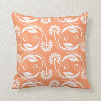 Floral blossom swirl stylish pillow