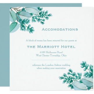 Floral Blossom Wedding Accommodations Card