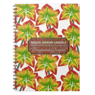 Floral Blossoms Decorated Modern Notebook
