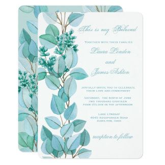 Floral Blossoms Wedding Invitation
