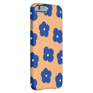 Floral Blue and Peach Barely There iPhone 6 Case