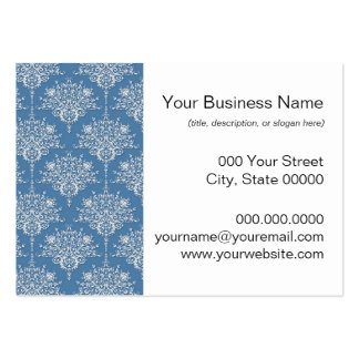 Floral Blue and White Damask Pack Of Chubby Business Cards