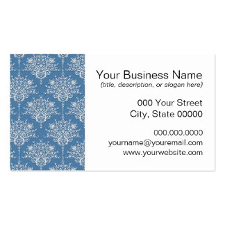 Floral Blue and White Damask Pack Of Standard Business Cards