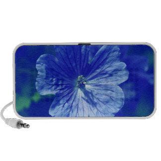 Floral Blue Doodle Portable Speaker