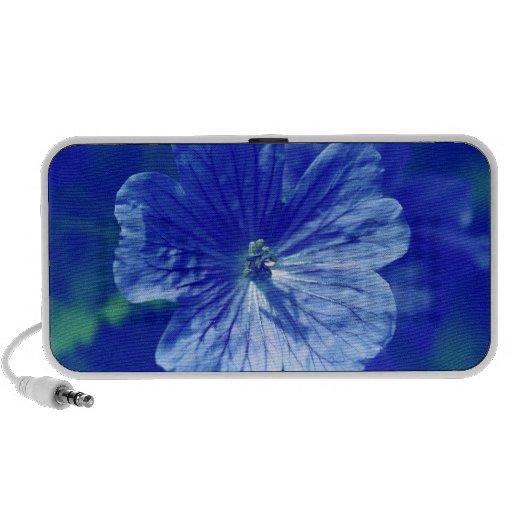 Floral Blue Doodle Notebook Speaker