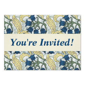 Floral Blue Flowers Lily of the Valley Card