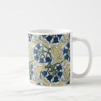 Floral Blue Flowers Lily of the Valley Coffee Mug
