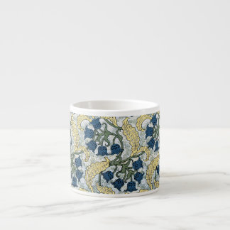 Floral Blue Flowers Lily of the Valley Espresso Cup