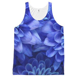 Floral Blue All-Over Print Tank Top