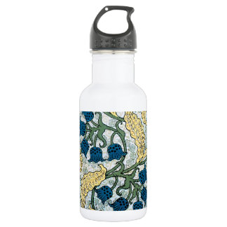 Floral Blue Lilies of the Valley 532 Ml Water Bottle