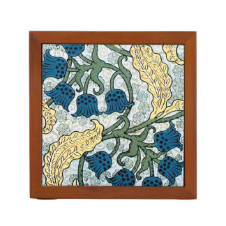 Floral Blue Lilies of the Valley Desk Organiser