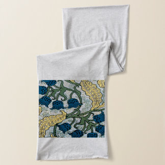 Floral Blue Lilies of the Valley Scarf