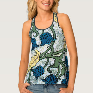Floral Blue Lilies of the Valley Singlet