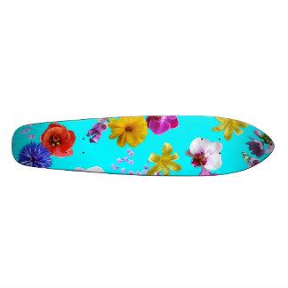 Floral Blue Skateboard