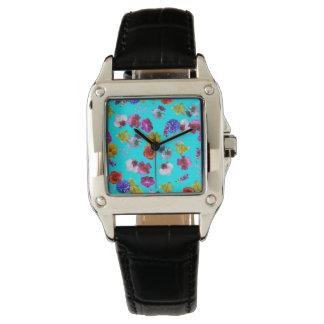 Floral Blue Watch
