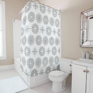 floral boho pattern shower curtain