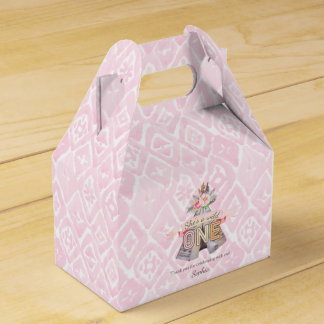 Floral Boho Tribal Teepee Wild One 1st Birthday Favour Box
