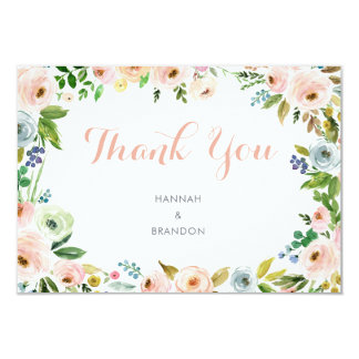 Floral Boho Wedding Thank You Card
