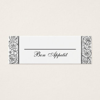 Floral Bon Appetit Flat Food or Table Place Cards