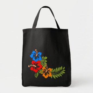 Floral border tote bag