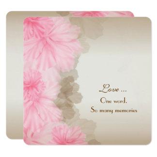 Floral Border Vow Renewal Card