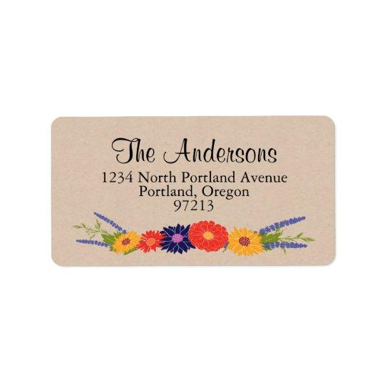 Floral Bouquet Address Labels