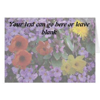 Floral Bouquet Blank Greeting Card