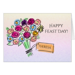 Feast days greeting cards zazzle floral bouquet catholic feast day celebration m4hsunfo