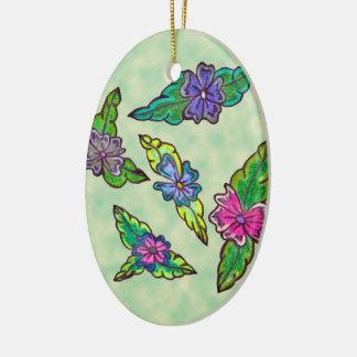 Floral Bouquet Ceramic Oval Decoration