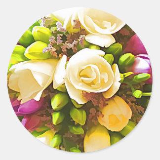 Floral Bouquet Envelope Seal Stickers