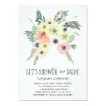 Floral Bouquet | Let's Shower the Bride | Bridal 13 Cm X 18 Cm Invitation Card