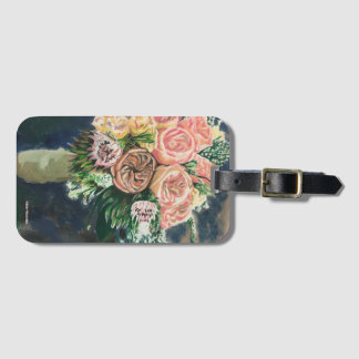 Floral Bouquet Luggage Tag with Card Holder