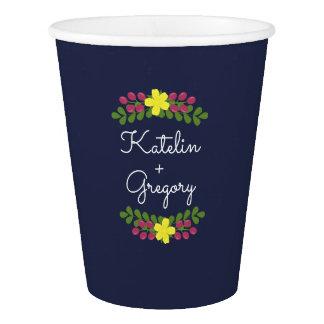 Floral Bouquet Paper Cups
