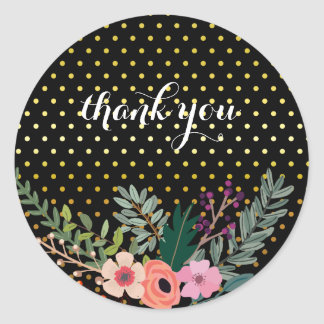 Floral bouquet party * choose background color classic round sticker