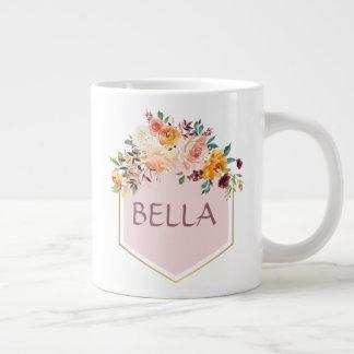 Floral Bouquet Pink Logo Personalized Mug