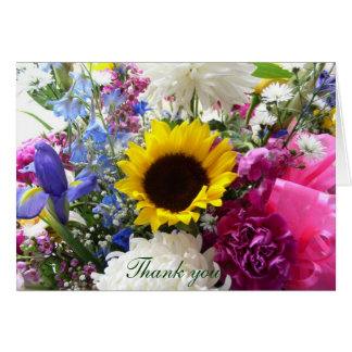 Floral bouquet Thank you! Card