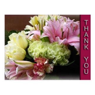 Floral Bouquet Thank You Postcard