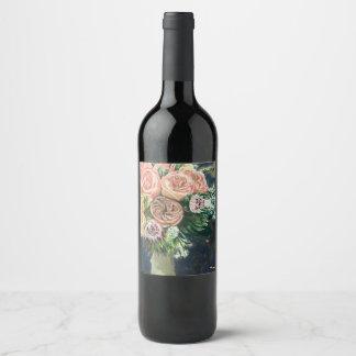 Floral Bouquet Wine/Champagne Bottle Label