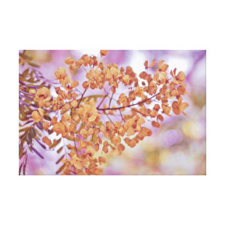 Floral Branches Yellow Blossoms Canvas Print
