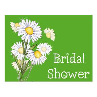 Floral Bridal Shower Sunflower Yellow Green Flower Postcard