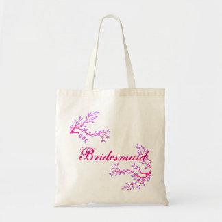 Floral Bridesmaid Wedding Tote Bag