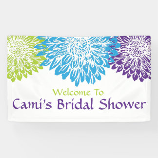 Floral, Bright, Mums Bridal Shower Banner